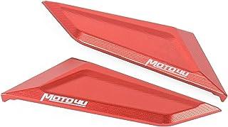 shiqi Ducati V4 CNCのアルミのオートバイのミラーホールキャップカバーフィットのためのフィットPanigale v4 /v4s/v4r (Color : Red)