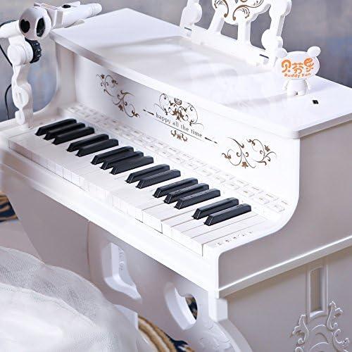 QXMEI Kinder Tastatur Mit Mikrofon (Rosa Weiß) Babyspielzeug,Weiß