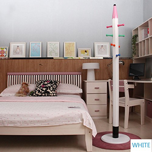 & Porte-manteau simple Porte-manteau pour chapeaux pour enfants, étagère en bois, arbre à étages avec 6 crochets Support d'affichage Assemblage simple d'étagères Portemanteau
