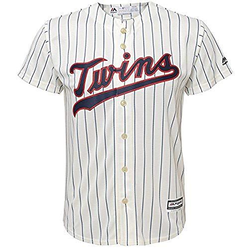 MLB 4-7 Kids Blank Cool Base Alternate Color Team Jersey (4, Minnesota Twins Alternate Pin Stripe)