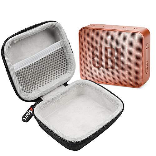 JBL GO 2 IPX7 Waterproof Ultra Portable Bluetooth Speaker Bundle with gSport Deluxe Hardshell Case (Black)