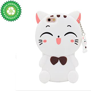 ZCSIBORUI iPhone 6 Plus Case, iPhone 7 Plus Case, iPhone 8 Plus Case,3D Cartoon Silicone Kitty Cat Kids Gifts Animals Soft Rubber Shockproof Protector Shell Skin for iPhone 6Plus/7Plus/8 Plus 5.5''