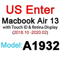 for for for MacBookPro用シリコンキーボードカバー1315 16 17 Retina Touch Air 13 1211透明クリアTPUEU US A2179 A22892020フィルム -US 2019 Air 13