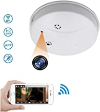 1080P HD Mini Spy Hidden Camera Smoke Detector, WiFi Wireless Home Security Video&Photo IP Surveillance Fire Alarm Detector Cam