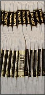 DMC Thread 6-Strand Embroidery Cotton 8.7 Yards White 117-BLANC (12-Pack)