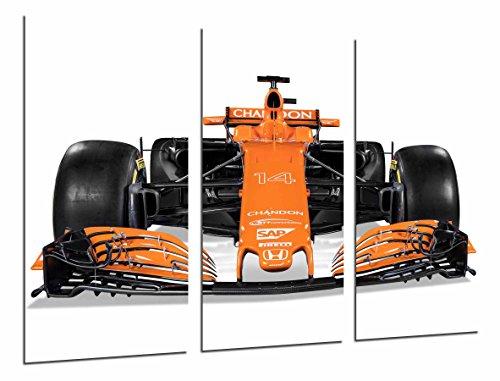 Cuadros Camara Poster Fotográfico Coche McLaren Honda Formula 1, Fernando Alonso 2017 Tamaño total: 97 x 62 cm XXL, Multicolor
