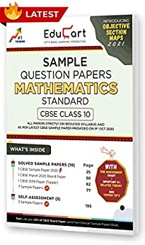 Educart CBSE Class 10 Maths 'Standard' Sample Question Papers 2021 (As Per 9th Oct CBSE Sample Paper) by [Educart]