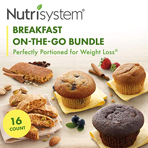 Nutrisystem On-The-Go Breakfast Bundle, 16 ct, Variety Pack of Breakfast Options for Weight Loss
