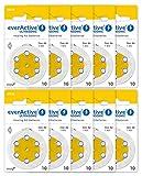 everActive 10, 60 Stück, Hörgerätebatterien,...