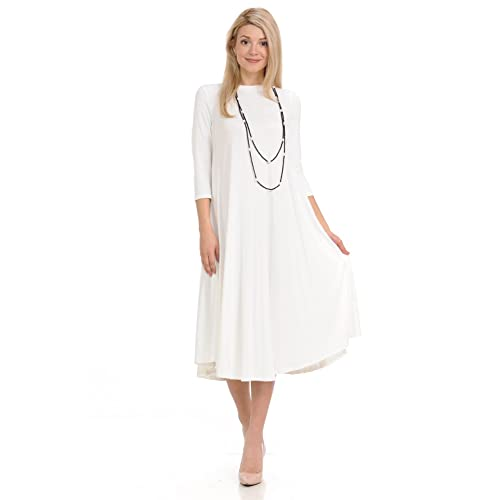 White Dresses below the Knee