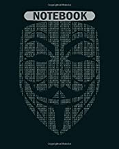 Notebook: matrix guy fawkes mask - 50 sheets, 100 pages - 8 x 10 inches