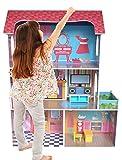 kiddi style casa delle bambole modello villetta supreme in legno