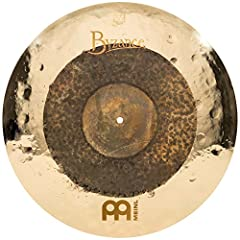 """Hand hammered in Turkey from cast B20 bronze alloy — the 20"""" Dual Crash-Ride gives you articulate definition that activates the whole cymbal while not washing out — when crashing, it will develop into a dark, trashy crash with a response that swells ..."""