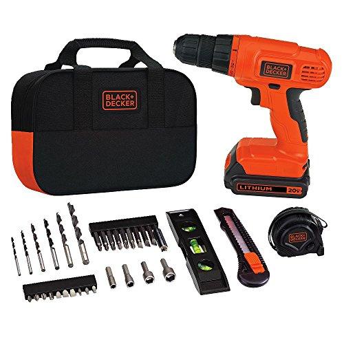 BLACKDECKER 20V MAX Drill amp Home Tool Kit 34 Piece BDCD120VA