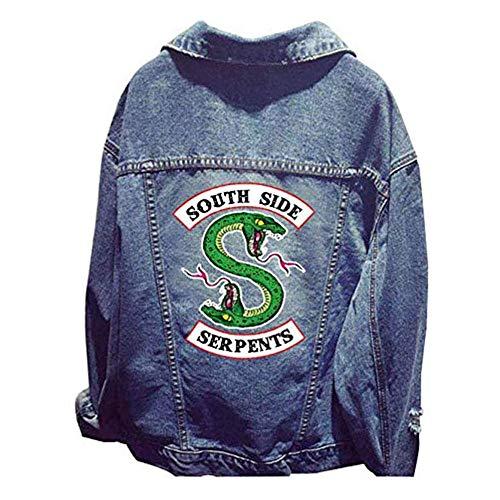 LIZK Riverdale Southside Serpents Mode Jeansjacke Frauen Pullover