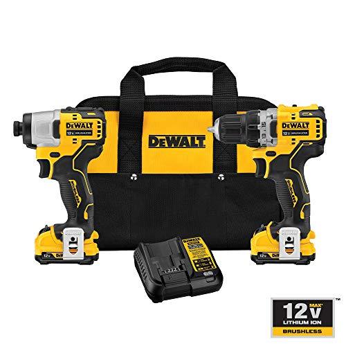 DEWALT XTREME 12V MAX Cordless Drill Combo Kit (DCK221F2)