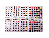 ATCUSA Premium Bindi 240 Count Assorted MultiColor & MultiSize Indian Daily Use Forehead Bindi Round Dot Tattoo Body Art Sticker craft decor belly decor forehead decor velvet body jewelry