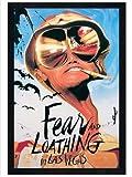 Fear & Loathing in schwarzes Holz eingerahmtes Johnny Depp