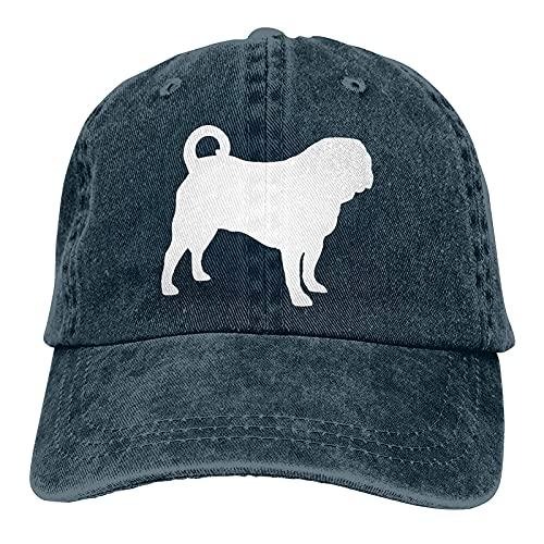 Dyfcnaiehrgrf Pugs Unisex Baseball Cap Breathable for Outdoor Activities Hat for Men Navy