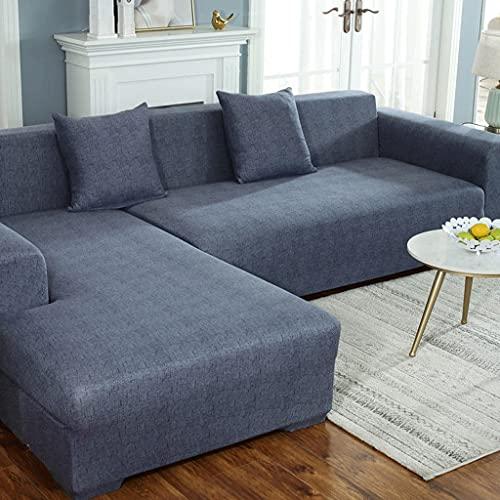VEAI Funda de Sofa Chaise Longue Derecho/Izquierdo 3 2 4 Plazas, Funda Cubre Sofá de Forma L Protector para Sofá (Necesita Comprar 2 Piezas) (Color : R, Size : 4 plazas (235-300 cm))
