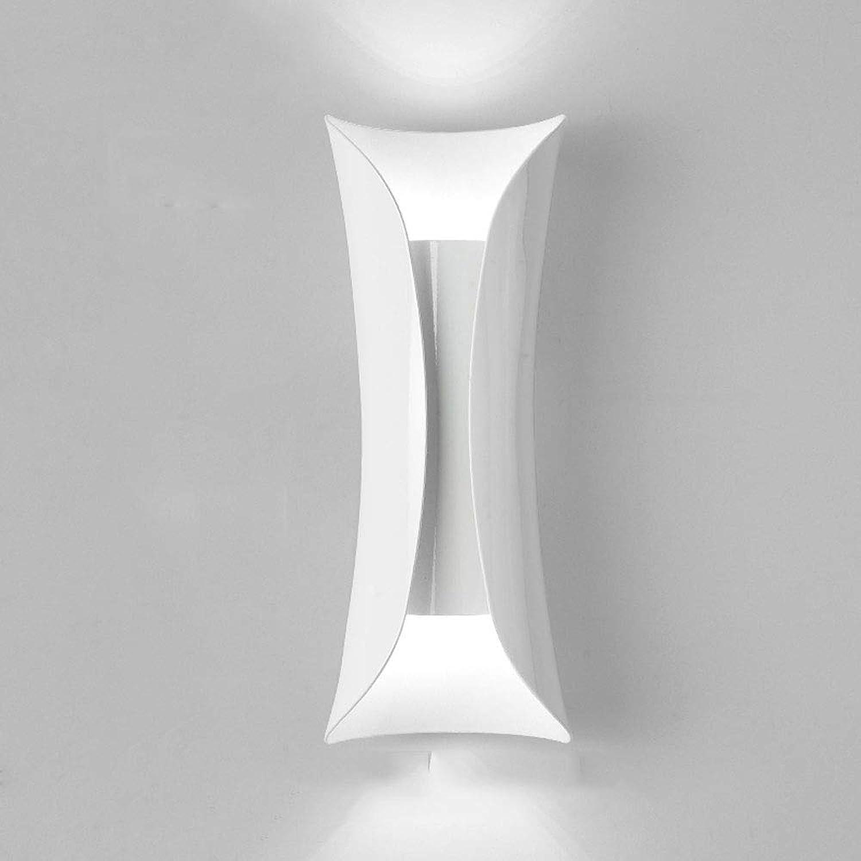 Mogicry Kreative Rechteck Nachttischlampe Nordic European Style Moderne Einfache Seltsame Modellierung Wandleuchte LED MultiFarbe Beleuchtung Dekoration Lesen Wandleuchte Eisen Kunst Wandleuchte