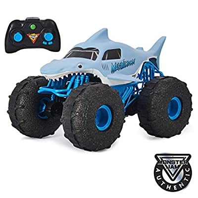 Monster Jam, Official Megalodon Storm All-Terrain Remote Control Monster Truck, 1:15 Scale from Spin Master