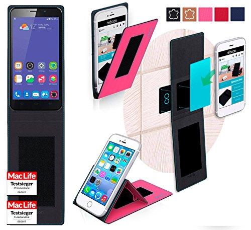 reboon Hülle für ZTE Grand S3 Tasche Cover Case Bumper | Pink | Testsieger