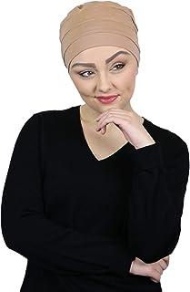 Cancer Headwear for Women Bamboo Beanie Chemo Hat Sleep Cap Head Coverings 3 Seam Turban