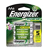 Rechargeable AA Batteries, NiMH, 2000 mAh, Pre-Charged, 8 Count (Recharge Universal)