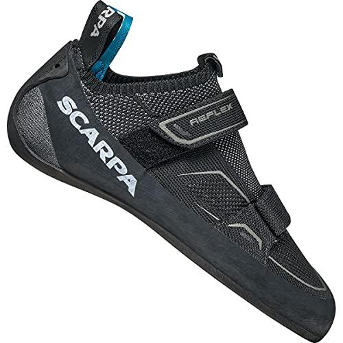 Scarpa Men's Reflex V Climbing Shoes, Black-Flame FFX, 13 UK