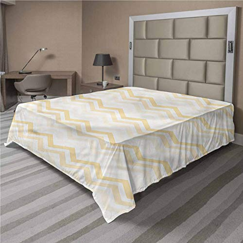 LCGGDB Chevron Flat Top Sheet,Geometric Arrangement Tribe Soft Comfortable Top Sheet Decorative Bedding 1 Piece,King/Cal King Size,Fit for Oversize and Extra Height King/Cal King Bed