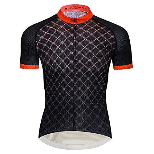 logas Herren Radtrikot Kurzarm Bike Shirts und Trägerhose Set Sportbekleidung