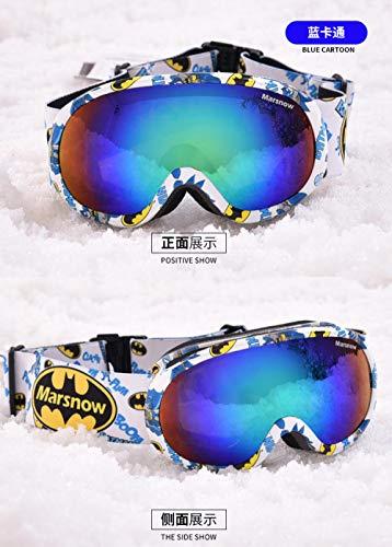 Generieke skibril voor brildrageroutdoor skibril kinder-skibril dubbellaags anti-condens-spiegel sferische kinderskibril