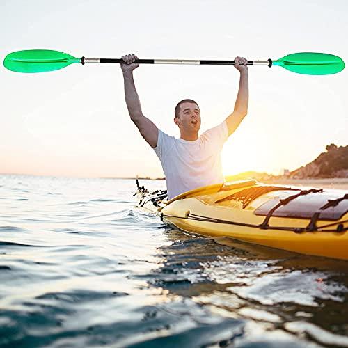 MEARCOO Remo para Bote, Remo Desmontable para Kayak, Remo de Dos Cabezas, Remo de Aluminio SúPer Ligero, Remos Flotantes Ajustables para Kayak para Remar En Canoa, 222cm