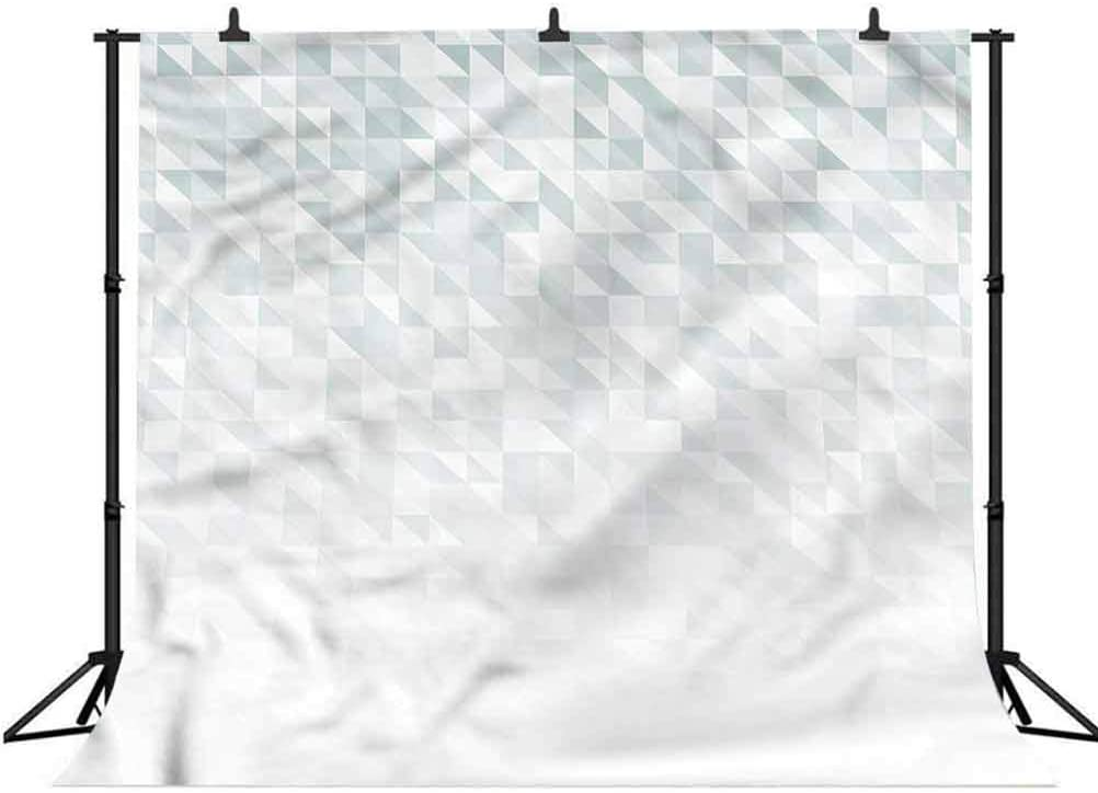 8x8FT Vinyl Photography Backdrop,Grey,Abstract Cubes and Triangles Background for Selfie Birthday Party Pictures Photo Booth Shoot