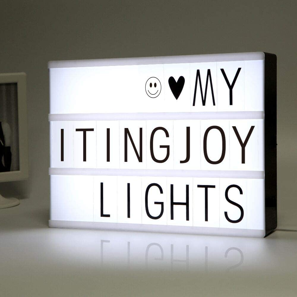 Home Decorative Signs A4 LED Light up Sign Box Cinematic Message ...