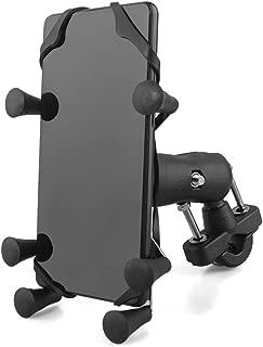 evomosa 自転車 スマホ ホルダー オートバイ バイク スマートフォン振れ止め 脱落防止 GPSナビ 携帯 固定用 防水 に適用iphone7 8 X xperia HUAWEI android 多機種対応 角度調整 360度回転 脱着簡単 強力な保護 (ブラック)
