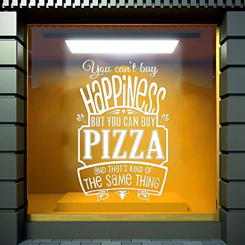 JXMK Pizzeria Pizza Muursticker Cafe Muurtattoo Decor voor cafe Verwijderbare vinyl glazen deuren en ramen reclame Sticker Muursticker 89x57cm