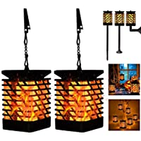 2-Pack Lampelc Outdoor Solar Decor Lanterns Lights
