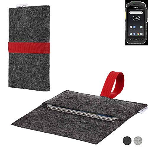 flat.design Handy Hülle Aveiro für Ruggear RG725 passexakte Filz Tasche Hülle Sleeve Made in Germany