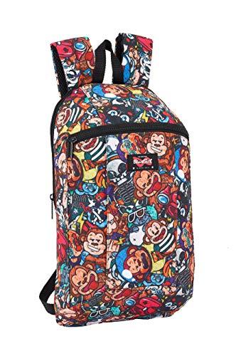 """Safta -Blackfit8 """"Monkey"""" Oficial Mini Mochila Uso Diario 220x100x390mm, Multicolor"""