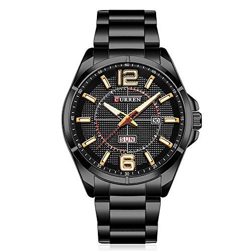 Curren Reloj de Hombre, Nuevo Reloj analógico - Digital para Hombre Top Brand Quartz...