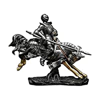 STBAAS ナイト像彫刻、置物骨董品収集品工芸品飾り彫像騎士雄彫刻家の装飾ナイト彫刻デスクトップの装飾 (Color : B)