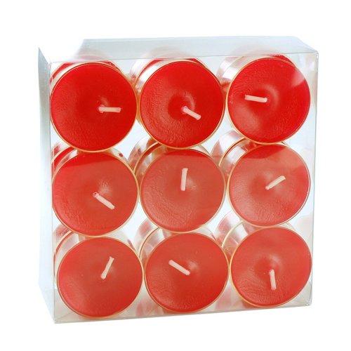 Teelichter farbig durchgefärbt rubinrot - 18 Stück