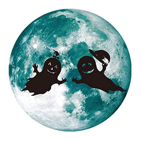Fasclot Creative Luminous Moon-Shadow Wall Sticker Halloween Decoration Sticker Ghost Home & Garden Home Decor