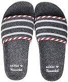 adidas Herren Adilette Slide Sandal, Grey/Grey/Cloud White, 46 EU