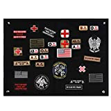 FaithHeart Tactical Morale Velcro Patch Holder, Pactch Wall Display Board Patch Display Poster Frame, Military Patch Board Hook Loop Backing Patch Storage Holder 60 x 45 cm