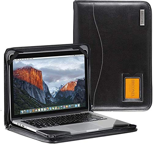 Broonel - Contour Series - Black Heavy Duty Leather Protective Case - Compatible with the Lenovo Yoga C640 13.3' Laptop