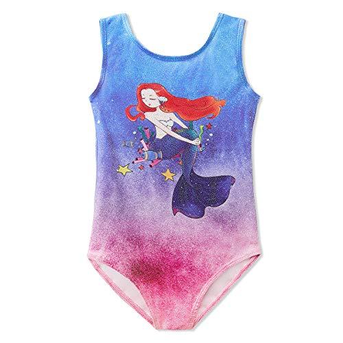Gymnastics Leotards for Girls Princess 4t 5t 4 5 year old size 5-6 Tumbling Leotard Biketard Dance Apparel Clothes Mermaid