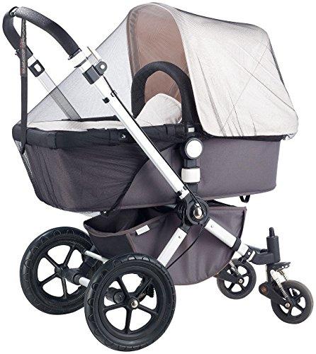 infactory Kinderwagen-Moskitonetz: Universal-Moskito-Netz für Kinderwagen und Reisebett, weiß (Moskitonetz für Baby-Bett)